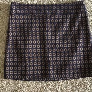 Loft mini skirt in fall brocade